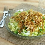 Chinese Napa Cabbage Salad with a Crunchy Topping