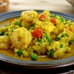 Couscous Paella with Shrimp for #WeekdaySupper