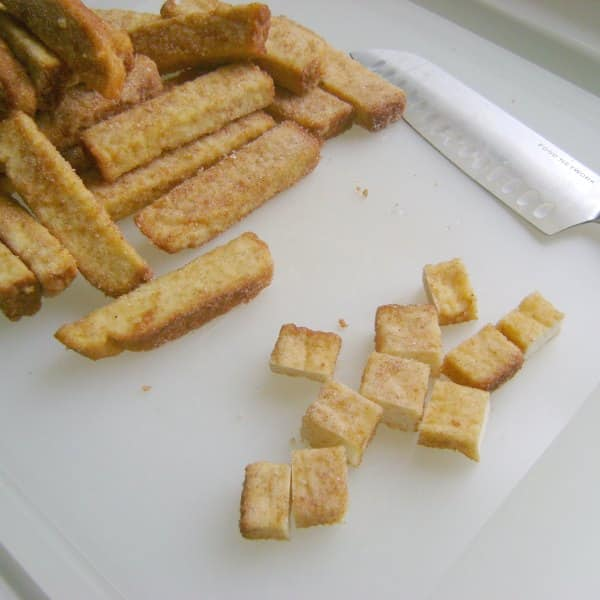 cut french toast sticks
