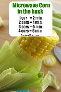 Microwave Corn in the Husk Time Guide