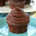 Vegan Chocolate Cupcake Recipe on plate