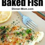Healthy Baked Fish Pin