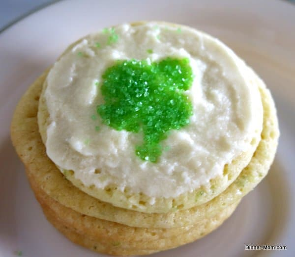 Key Lime Cookies and Icing Decorated for St. Patrick's Day