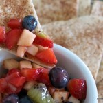 Fruit Salsa and Cinnamon Chips – Stevia Sweetened