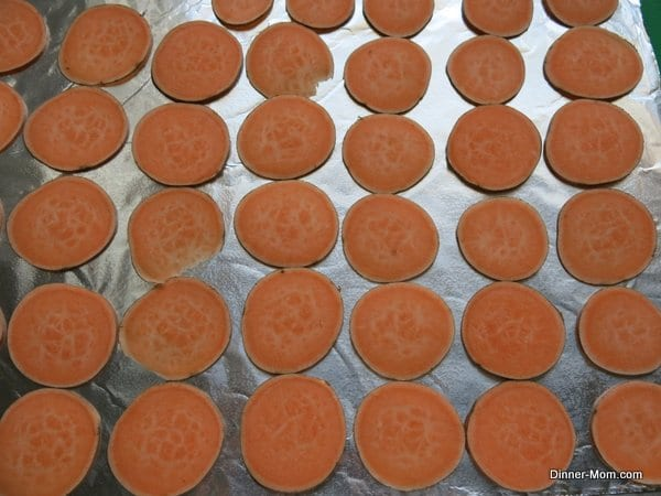 Uncooked Sweet Potato Slices