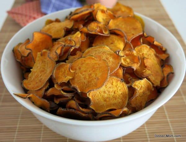 Bowl of Sweet Potato Chips