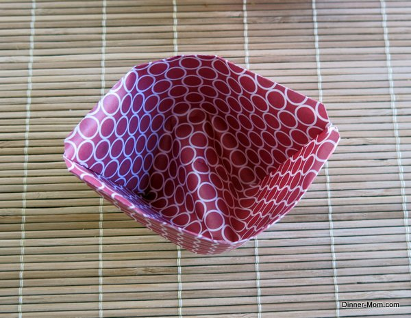 Origami cup that stands