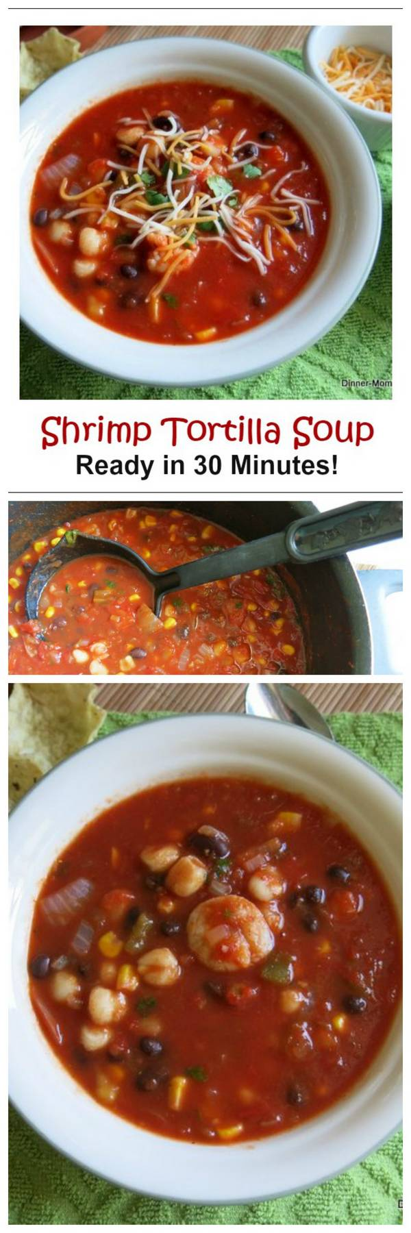 Shrimp Tortilla Soup is full of healthy ingredients and comes together in less than 30 minutes! No need for takeout with this easy recipe.