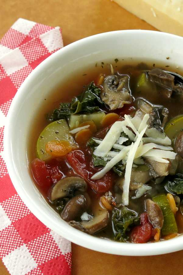 Hearty Homemade Vegetable Soup Recipe in bowl