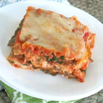 Roasted Vegetable Lasagna on plate