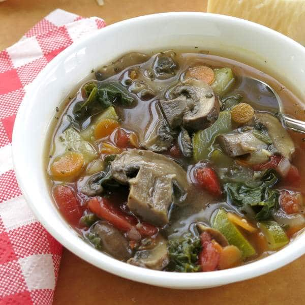 Vegan Vegetable Soup in bowl