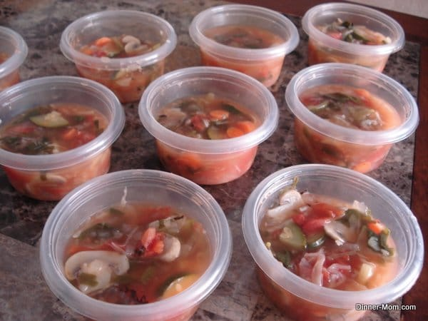 Ready to Freeze Vegetable Soup