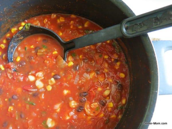 Cooking Shrimp Tortilla Soup