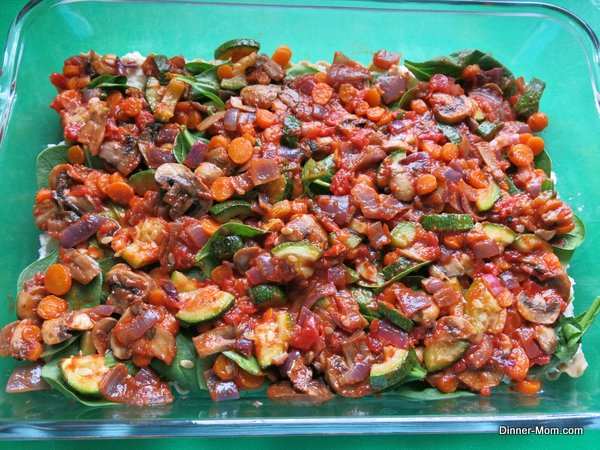 Vegetable and Sauce Layer