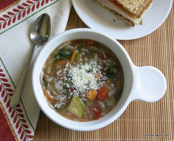 Vegetable Soup with Parmesan Cheese