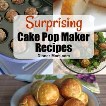 Collage of cake pop recipe pins