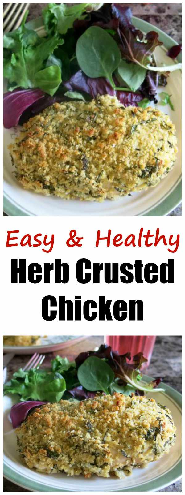 This Herb Crusted Chicken Recipe was a favorite at our make ahead dinner store. We call it easy gourmet because it uses fresh herbs and tastes likes you spent lots of time in the kitchen, but it is so easy to make and bakes in the oven..