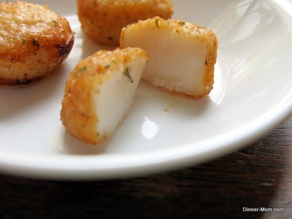 Cake Pop Maker Recipes - Parmesan Crusted Scallops