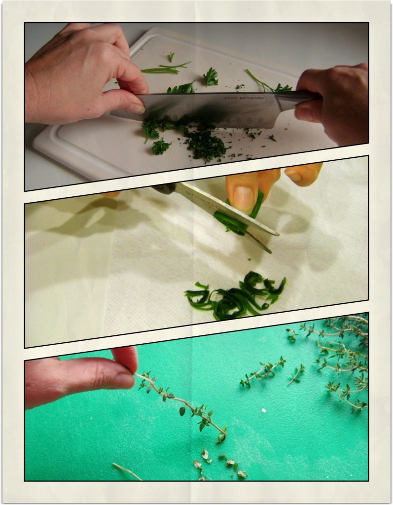 Parsley, Basil, Thyme Prep