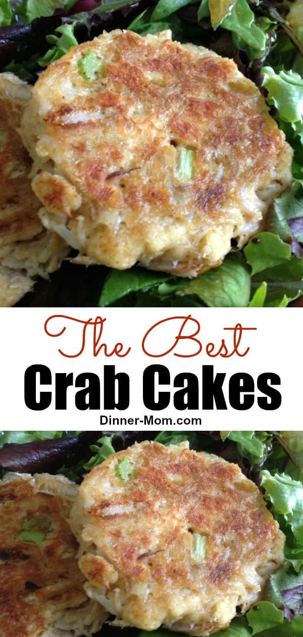 Make The Best Crab Cakes at home! Easy, egg-free recipe that the customers at our Make Ahead Meal Kitchen LOVED! #bestcrabcakes #seafoodrecipes