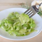 zucchini ribbon pasta recipe on fork