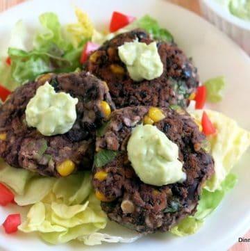 Black Bean Cakes Avocado Cream Recipe