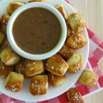 Pretzel Bites and Raspberry Honey Mustard Sauce