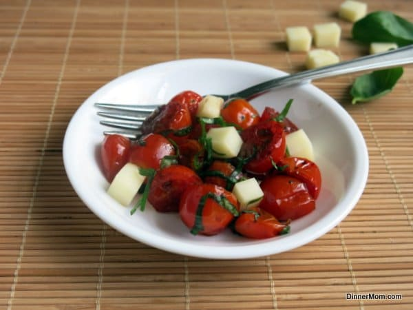 Roasted Grape Tomato Caprese Salad