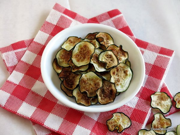 Oven Roasted Zucchini Chips