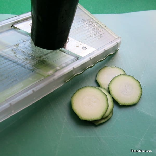 Zucchini Sliced with Mandoline