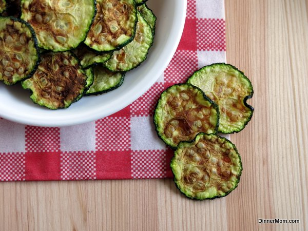 Zucchini Chips from the Microwave