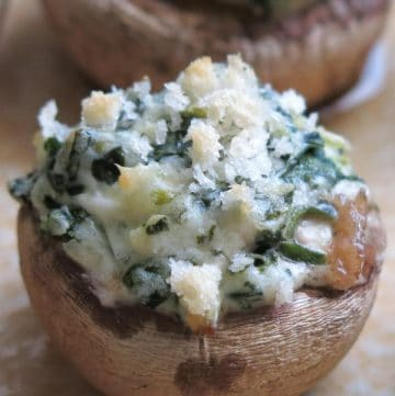 Easy Stuffed Mushrooms Recipe Spinach and Cream Cheese