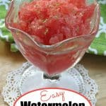 Watermelon Granita in a serving glass