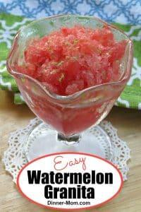 Watermelon Granita in a serving glass
