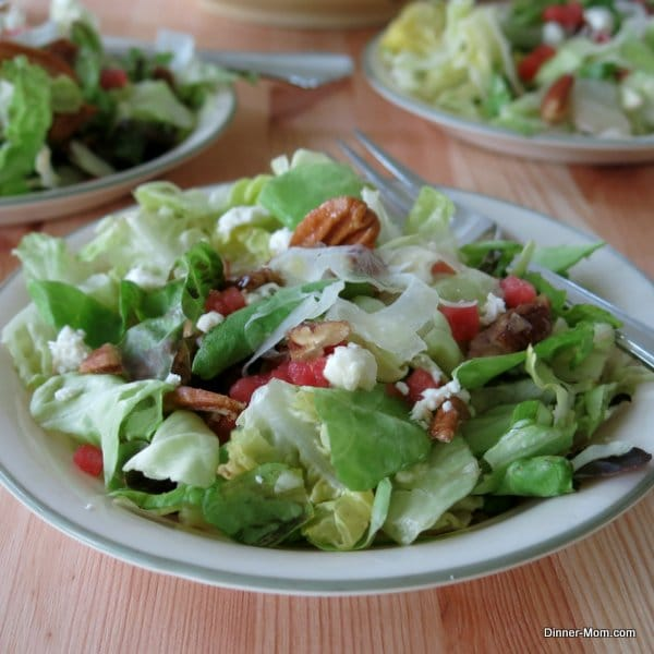 Fancy Salad with Fennel, Feta, Watermelon & Pecans - The Dinner-Mom