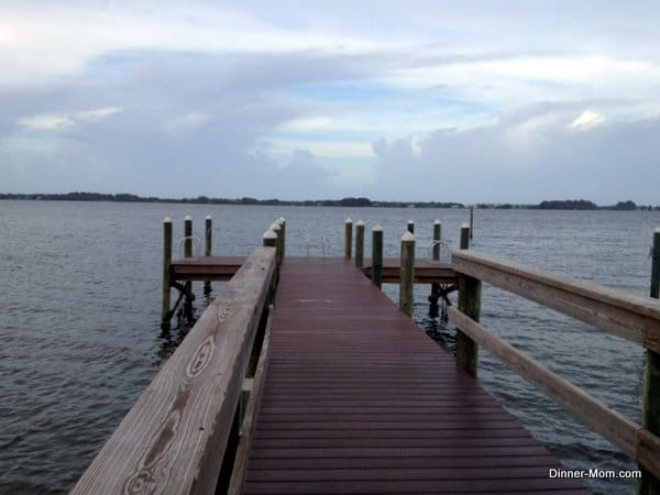 Dock over the Indian River lagoon