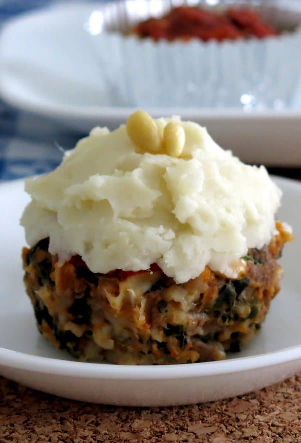 Meatloaf Muffin with Spinach and Pine Nuts