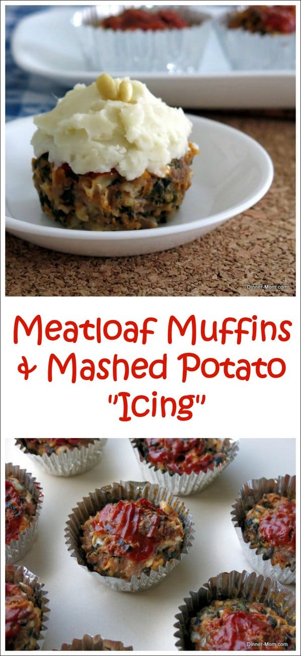 Meatloaf Muffins topped with mashed potato icing