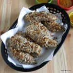 Nutty Baked Chicken Tenders and Orange Dipping Sauce