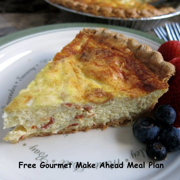 Gourmet Make Ahead Meal Plan