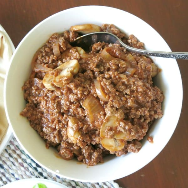 Bowl of the best sloppy joes recipe