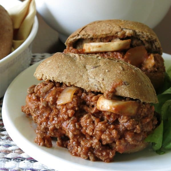 Best Sloppy Joes on a plate