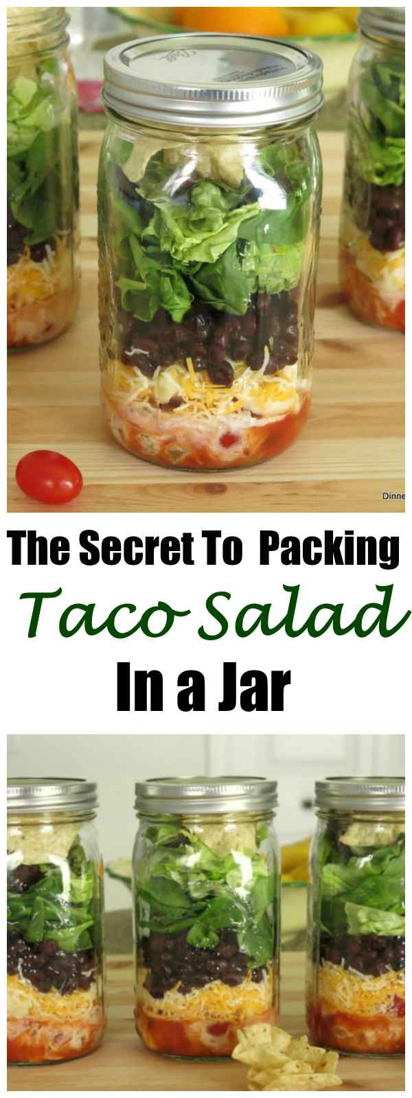 The Secret to Packing Taco Salad in a Jar