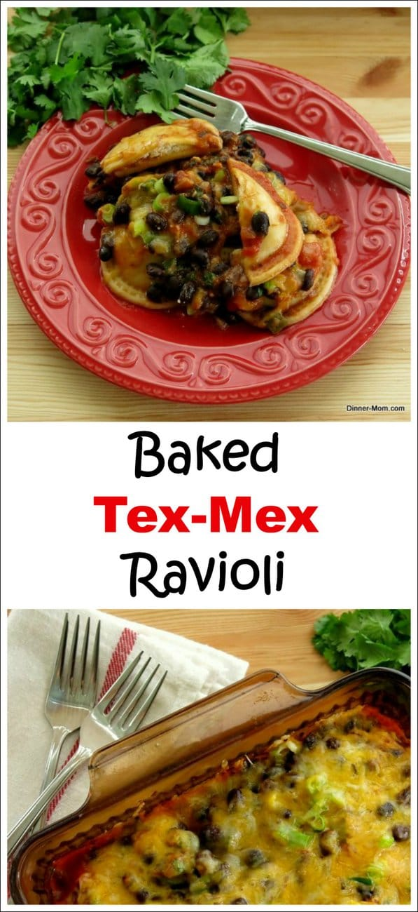 Baked Ravioli Casserole with Tex Mex Flavors