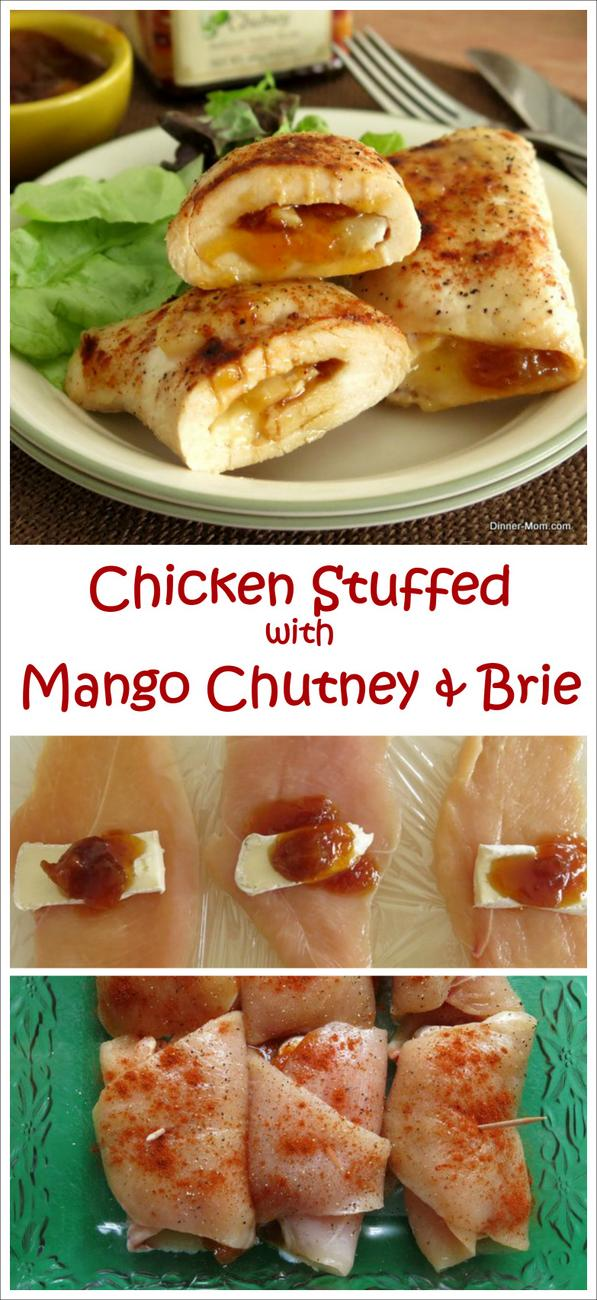 Chicken Roulades with Mango Chutney and Brie