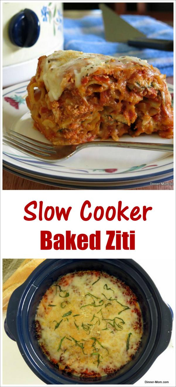 Crock Pot Baked Ziti Recipe