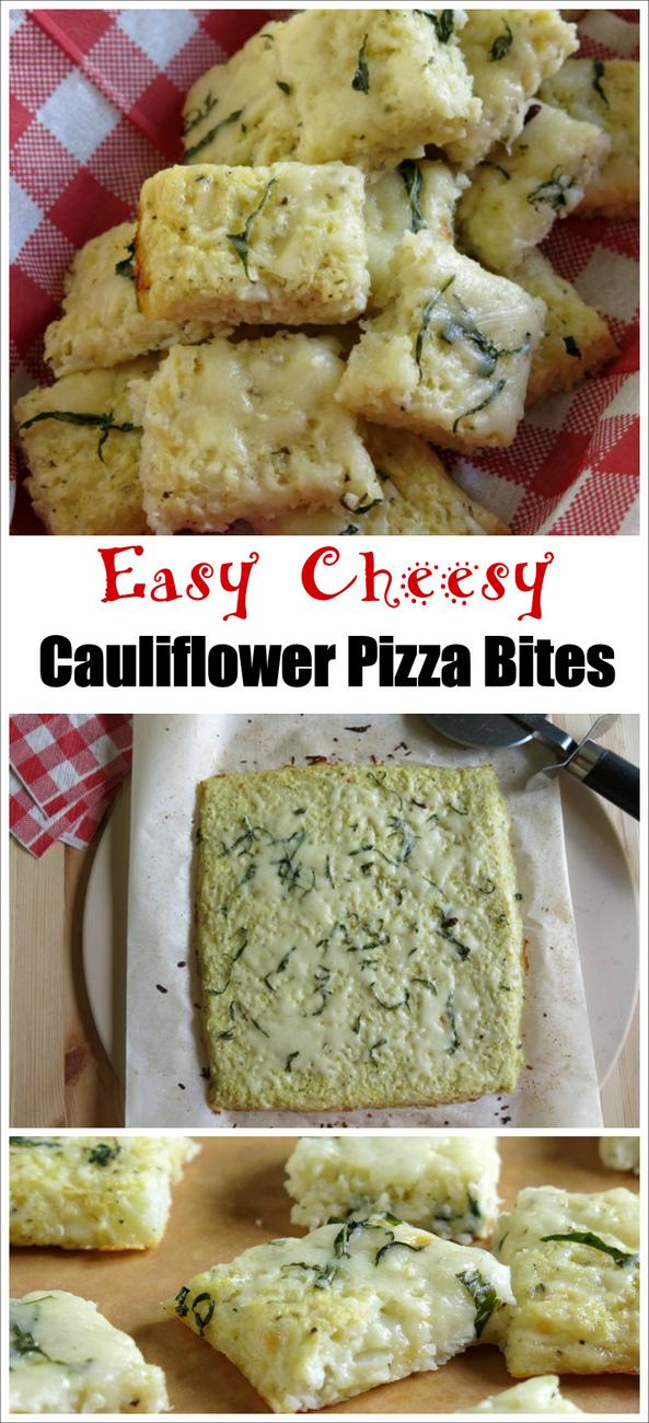 Easy Cheesy Cauliflower Pizza Bites Recipe