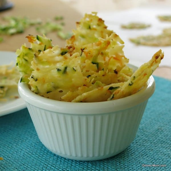 Parmesan Cheese Crisps Laced With Zucchini and Carrots