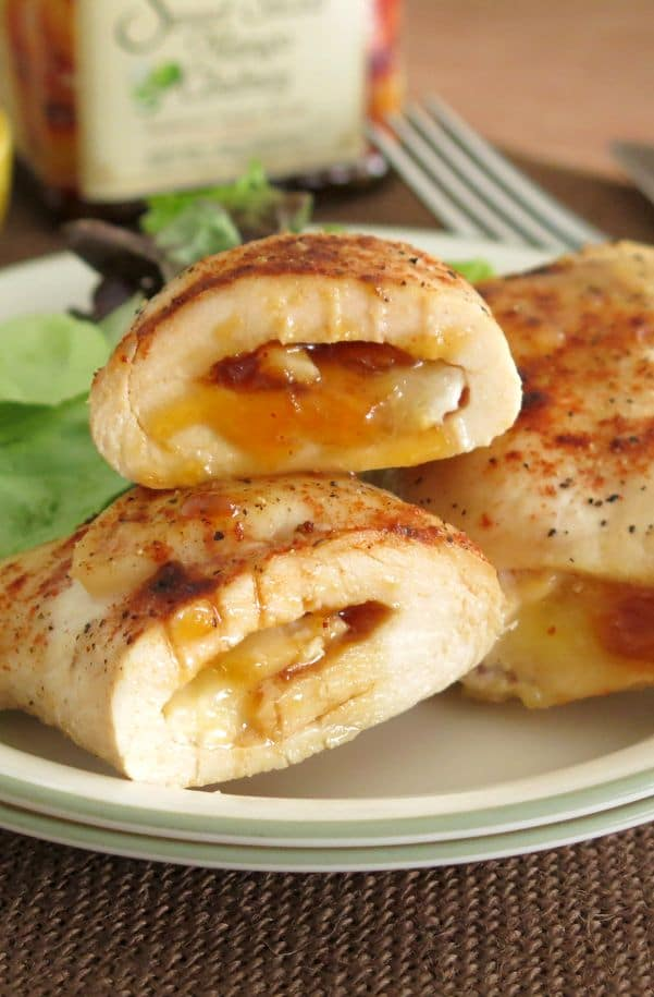 Chicken Roulades Stuffed with Mango Chutney and Brie Recipe