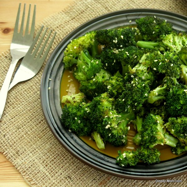 Roasted Broccoli with Sesame Drizzle